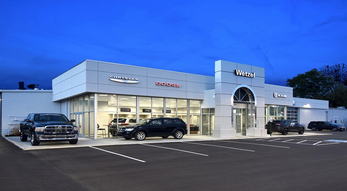 Wetzel Chrysler auto dealership finished construction picture 1