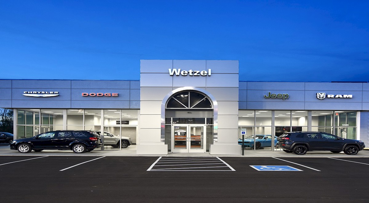 Wetzel Chrysler auto dealership finished construction picture 2
