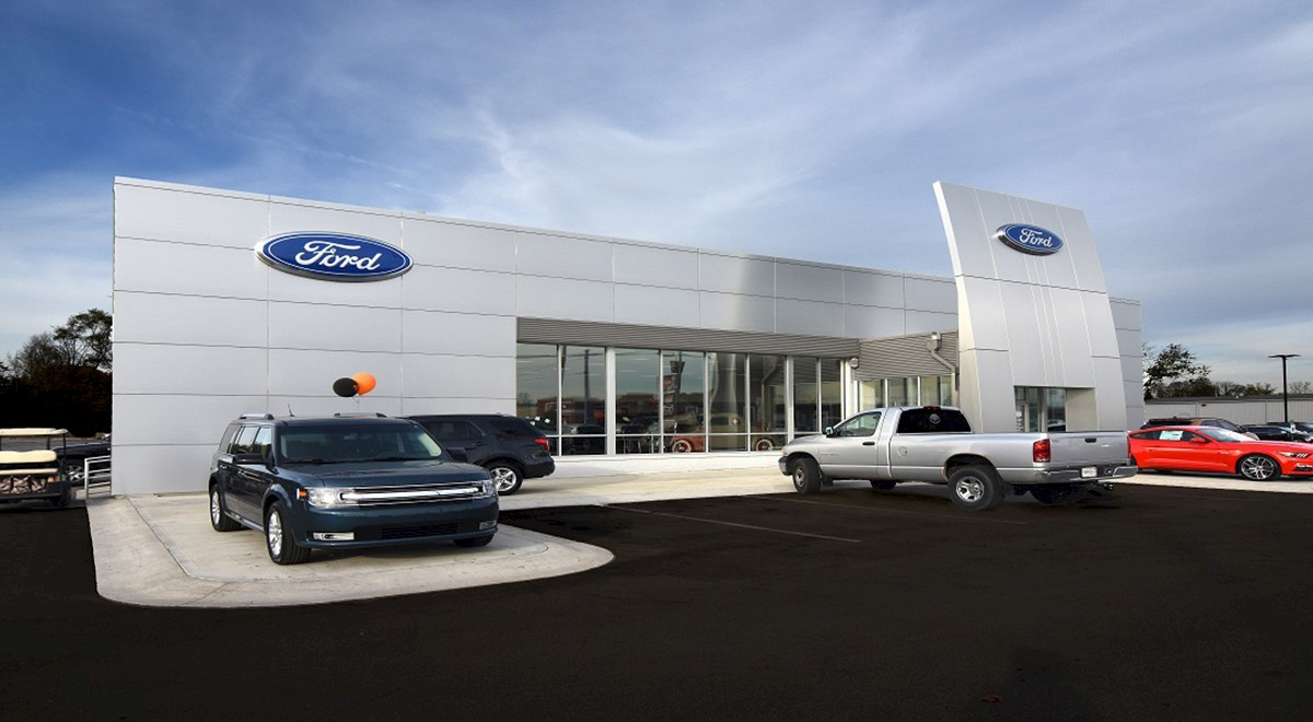 Wetzel Ford auto dealership construction finished picture 2