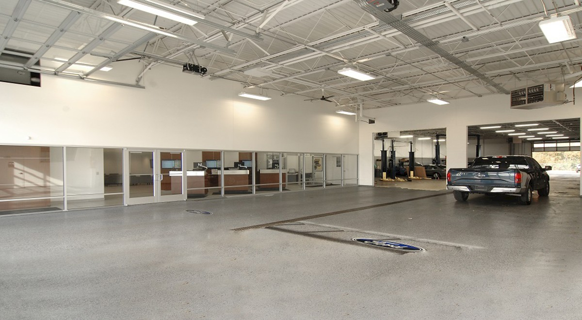 Wetzel Ford auto dealership construction finished picture 11