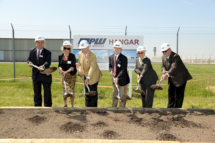 MPW Industrial Services Hangar Groundbreaking