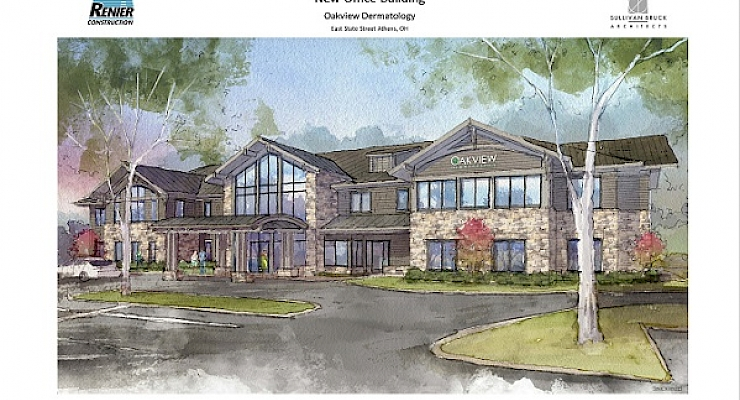 Renier Construction & Oakview Dermatology Celebrate Surprise Groundbreaking In Athens, Ohio